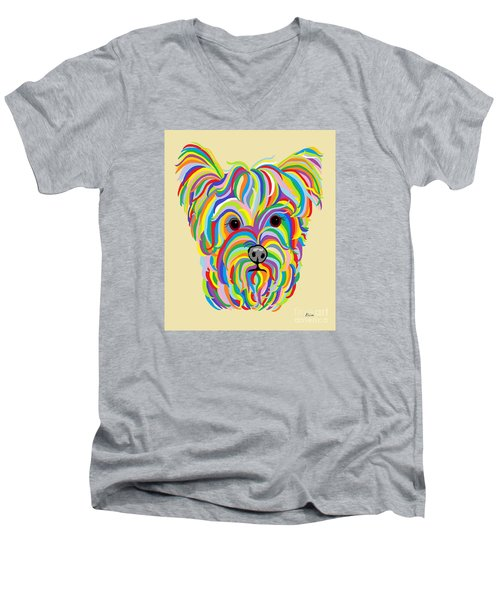Yorkshire Terrier ... Yorkie Men's V-Neck T-Shirt
