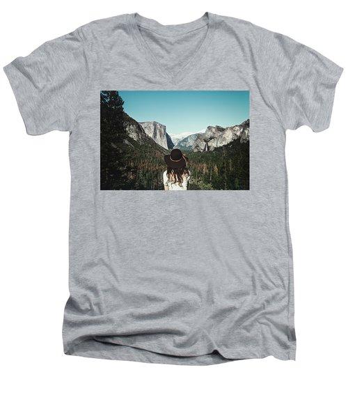 Yosemite Awe Men's V-Neck T-Shirt