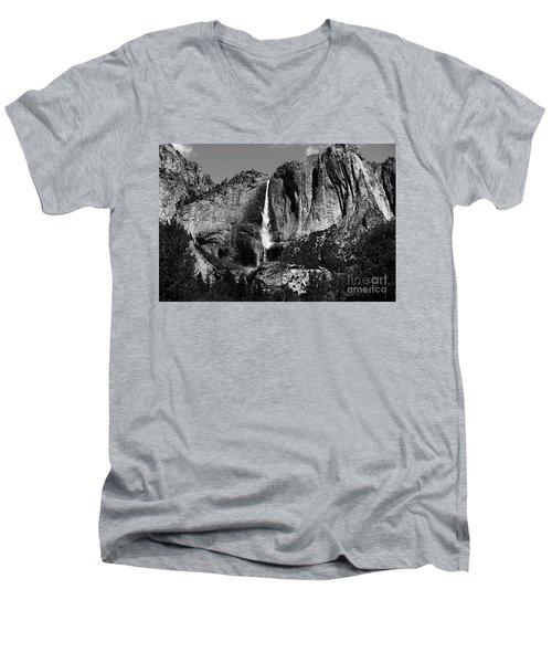 Yosemite Black Falls  Men's V-Neck T-Shirt