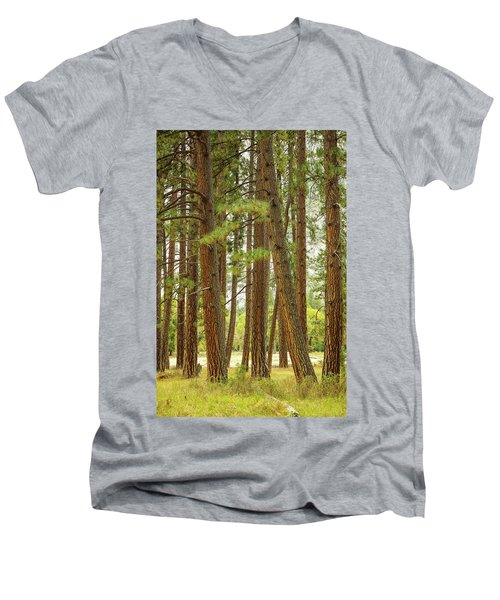 Men's V-Neck T-Shirt featuring the photograph Yosemite by Jim Mathis