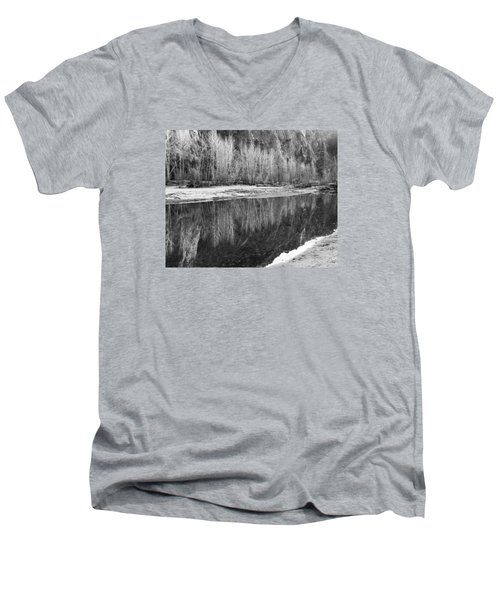 Men's V-Neck T-Shirt featuring the photograph Yosemite  by Lora Lee Chapman