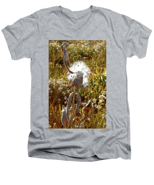 Yosemite Milkweed Men's V-Neck T-Shirt by Amelia Racca