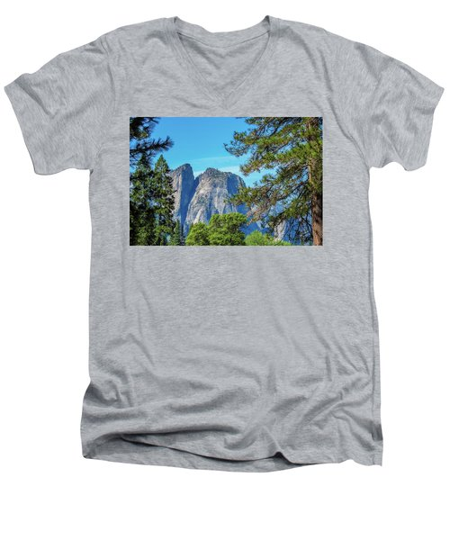 Yosemite Morning Men's V-Neck T-Shirt