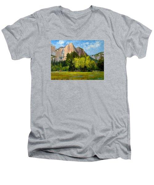 Yosemite - Ribbon Falls Men's V-Neck T-Shirt