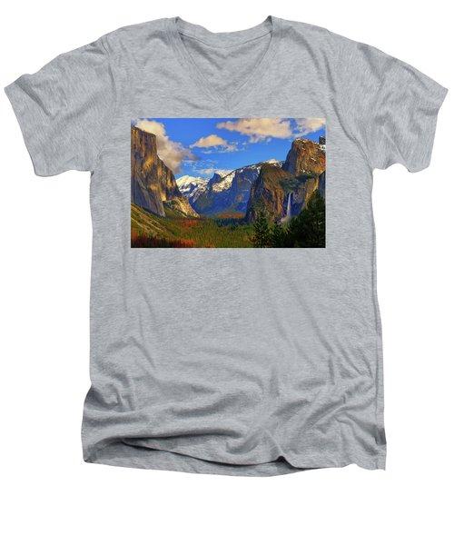 Yosemite Valley Tunnel View Men's V-Neck T-Shirt