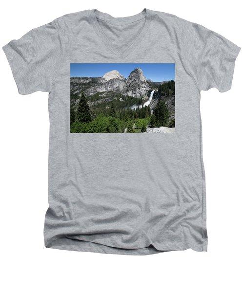 Yosemite View 30 Men's V-Neck T-Shirt by Ryan Weddle
