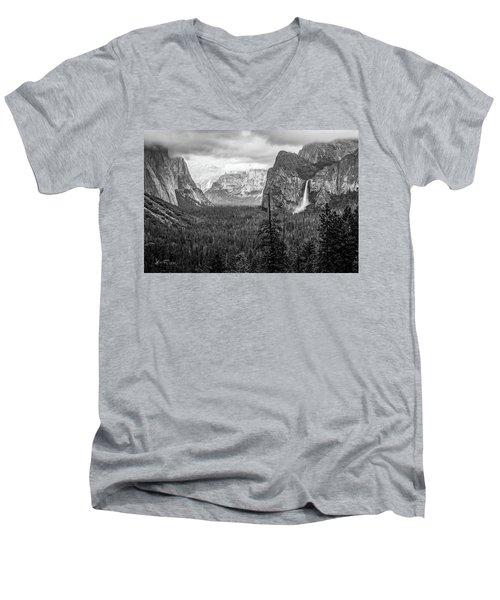 Yosemite View 38 Men's V-Neck T-Shirt by Ryan Weddle