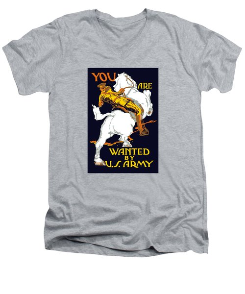 You Are Wanted By Us Army Men's V-Neck T-Shirt