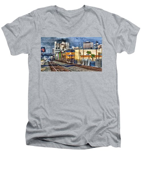 Men's V-Neck T-Shirt featuring the photograph You Can Go Your Own Way by Michael Rogers