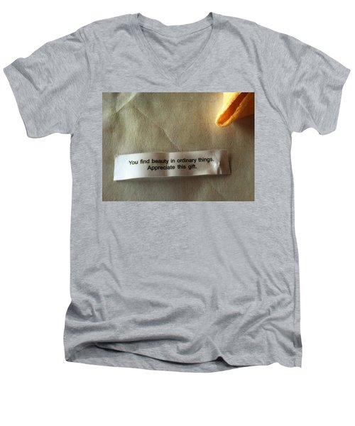You Find Beauty Men's V-Neck T-Shirt
