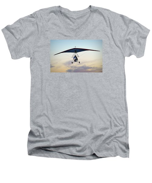 Men's V-Neck T-Shirt featuring the photograph You Only Live Once by AJ  Schibig