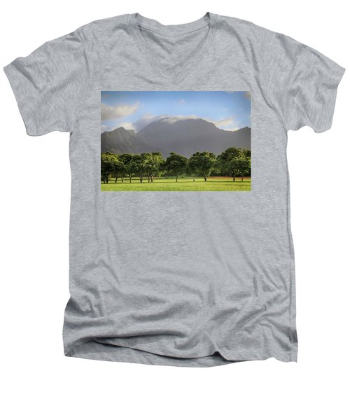 Men's V-Neck T-Shirt featuring the photograph You Still Can Touch My Heart by Laurie Search