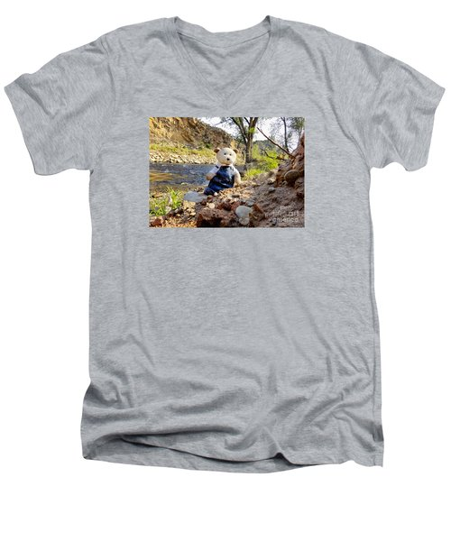 You Were Expecting Bigfoot Men's V-Neck T-Shirt