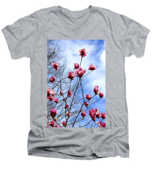 Young Blooms Men's V-Neck T-Shirt