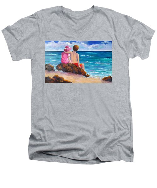 Young Love Men's V-Neck T-Shirt