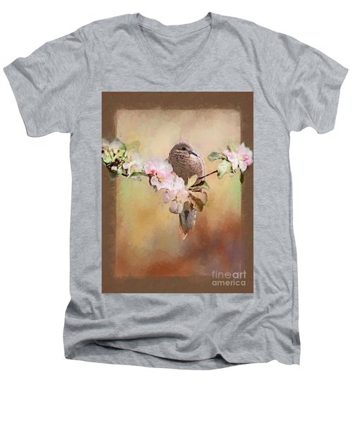 Young Morning Dove Men's V-Neck T-Shirt by Suzanne Handel