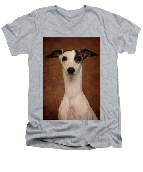 Young Whippet Men's V-Neck T-Shirt