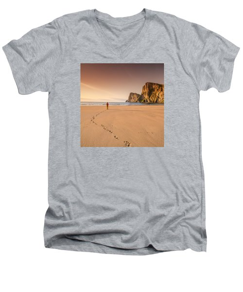 Your Own Beach Men's V-Neck T-Shirt by Alex Conu