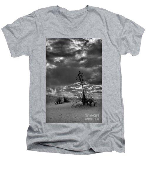 Yucca At Sunset Men's V-Neck T-Shirt