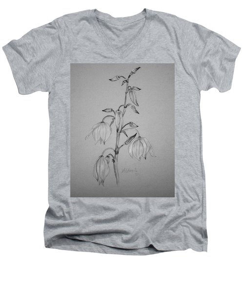 Yucca Men's V-Neck T-Shirt by Marna Edwards Flavell