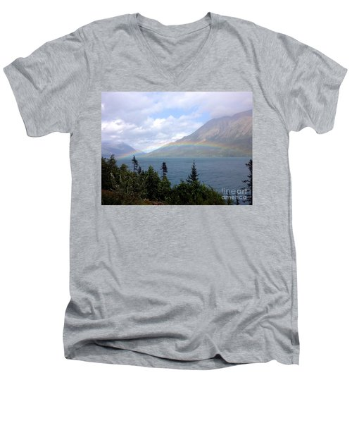 Yukon Rainbow Men's V-Neck T-Shirt