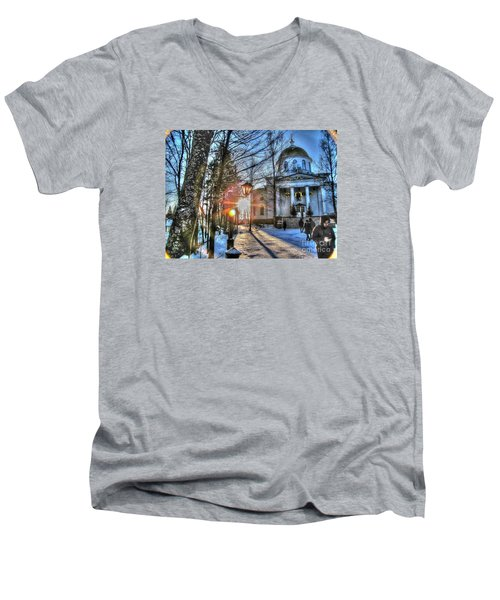 Yury Bashkin Churches, Russia Men's V-Neck T-Shirt by Yury Bashkin
