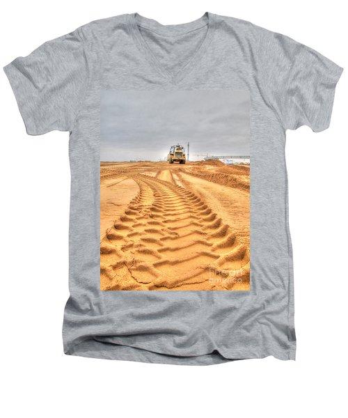 Yury Bashkin The Road On The Construction Men's V-Neck T-Shirt by Yury Bashkin