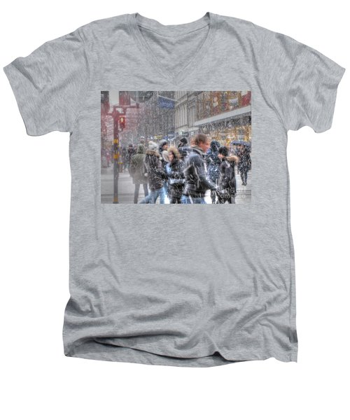Yury Bashkin Winterstockholm Men's V-Neck T-Shirt by Yury Bashkin