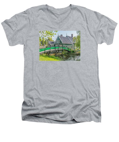 Zaanse Schans Village Men's V-Neck T-Shirt
