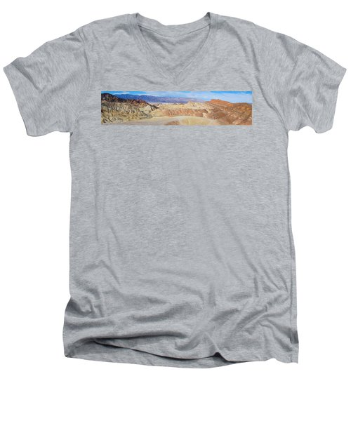 Zabriskie Point Panoramic Men's V-Neck T-Shirt