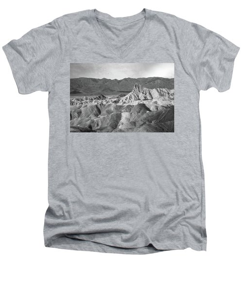 Zabriskie Point Landscape Men's V-Neck T-Shirt by Marius Sipa