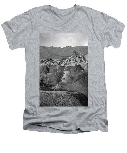 Zabriskie Point Portrait Men's V-Neck T-Shirt by Marius Sipa