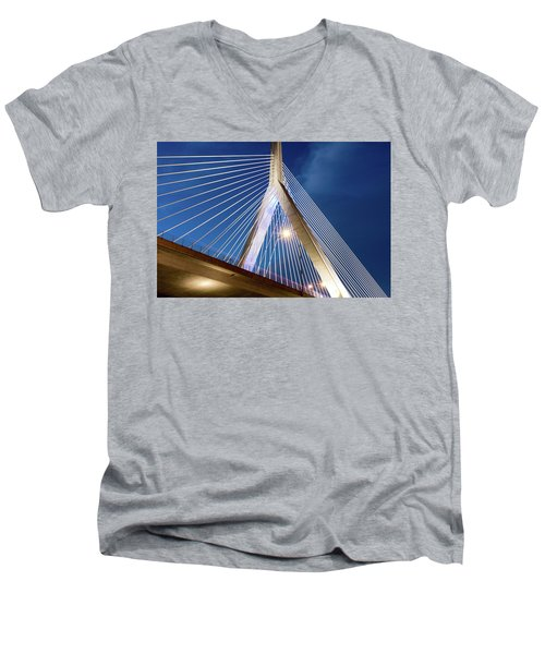 Zakim Bridge Upclose Men's V-Neck T-Shirt