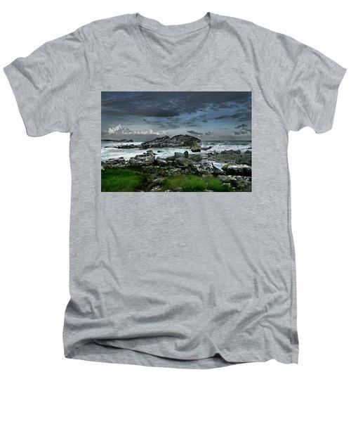 Zamas Beach #14 Men's V-Neck T-Shirt