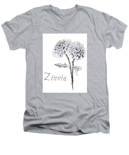 Zannie Zinnia Men's V-Neck T-Shirt