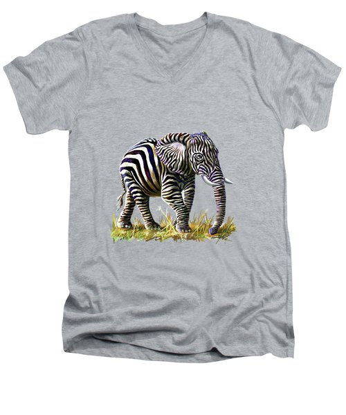 Zebraphant Men's V-Neck T-Shirt