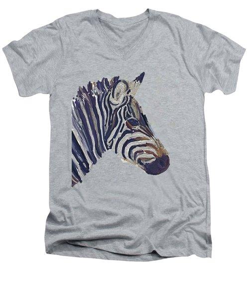 Zebra 2 Men's V-Neck T-Shirt by Zilpa Van der Gragt