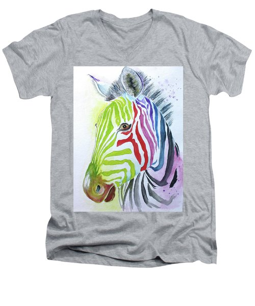 My Polychromatic Friend Men's V-Neck T-Shirt