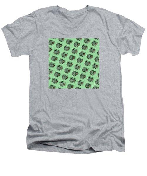 Zebra Illustration Pattern Men's V-Neck T-Shirt by Saribelle Rodriguez