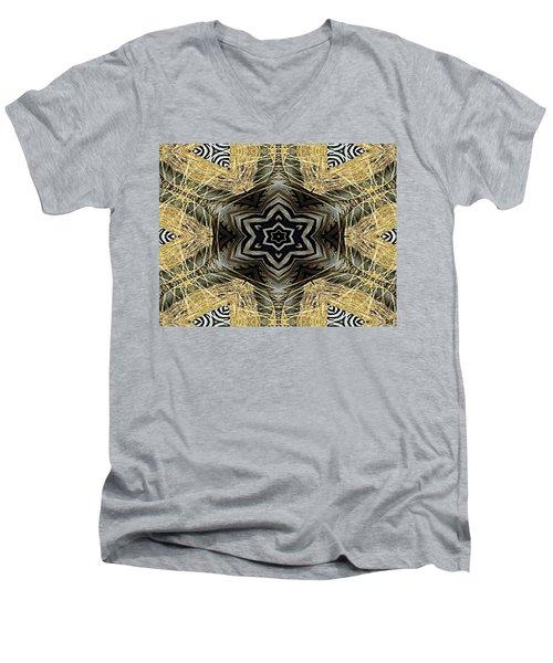 Zebra Vi Men's V-Neck T-Shirt by Maria Watt