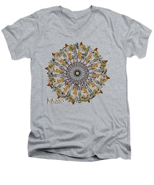 Zeerkl Of Music Men's V-Neck T-Shirt