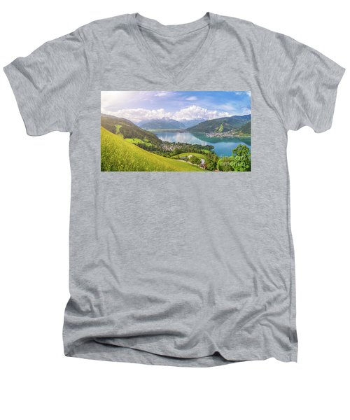 Zell Am See - Alpine Beauty Men's V-Neck T-Shirt by JR Photography