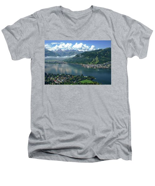Zell Am See Panorama Men's V-Neck T-Shirt