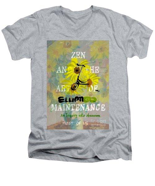 Zen And The Art Of Elliptigo Maintainence, A Parody Men's V-Neck T-Shirt