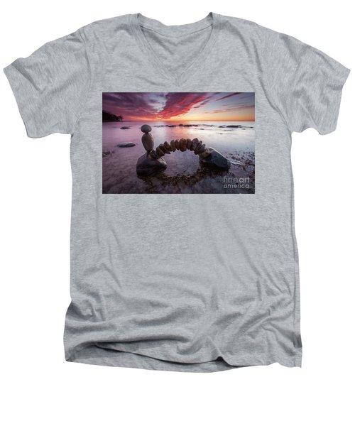Zen Arch Men's V-Neck T-Shirt