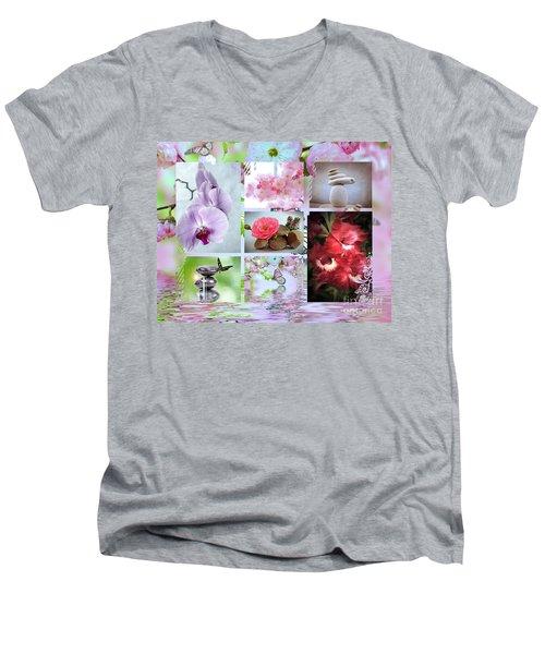 Zen Collage Men's V-Neck T-Shirt