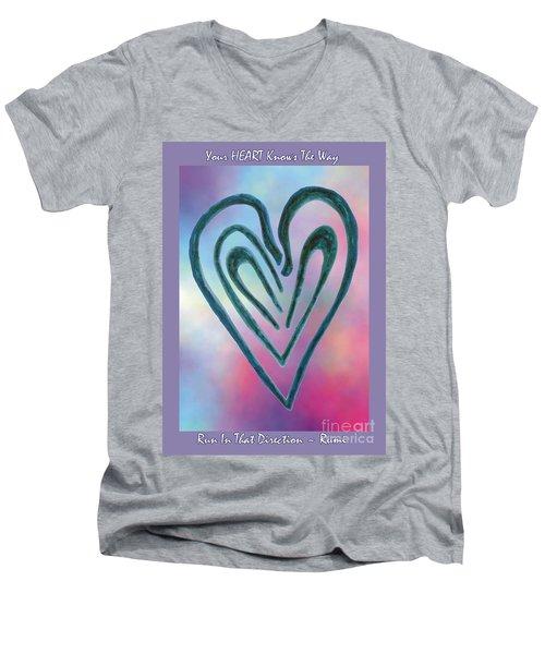 Zen Heart Labyrinth Men's V-Neck T-Shirt