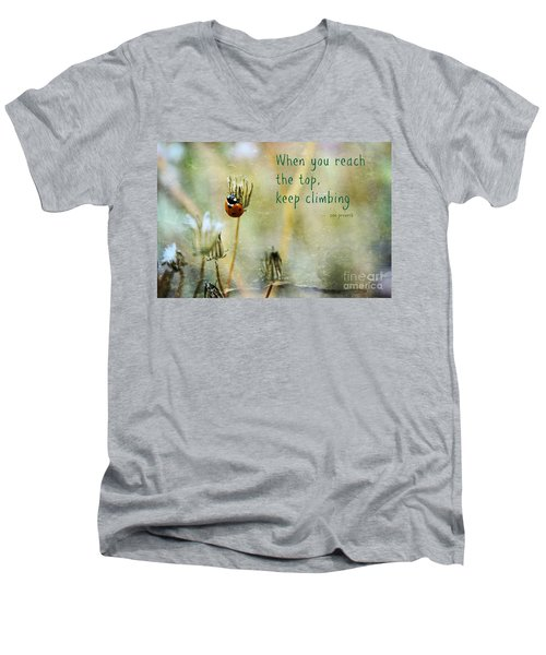 Zen Proverb Men's V-Neck T-Shirt