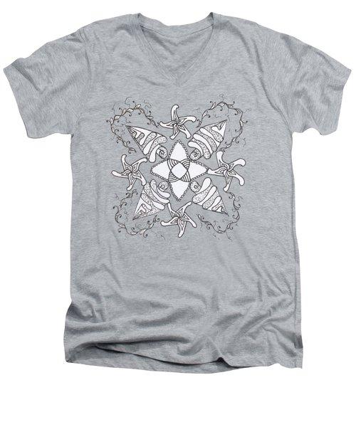 Zendala On The Beach Men's V-Neck T-Shirt