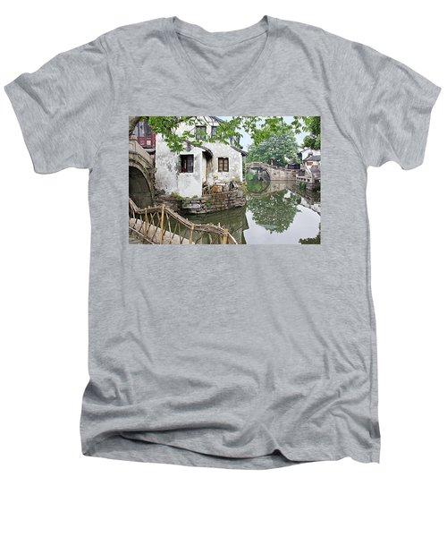 Zhouzhuang - A Watertown Men's V-Neck T-Shirt